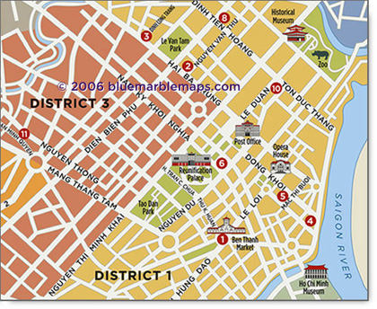 Custom City maps Ho Chi Minh City Saigon Map